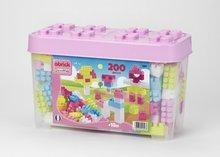 Stavebnice pro děti Maxi Abrick Écoiffier s velkými kostkami v růžové krabici od 18 měsíců 200 ks