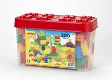 Dětská stavebnice Maxi Abrick Écoiffier s velkými kostkami v červené krabici od 18 měsíců 200 dílů