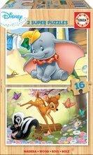 Fa puzzle Disney Állatkák Dumbo Educa 2x16 darabos