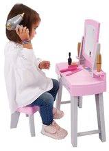 Kozmetična mizica za otroke - Kozmetična mizica s stolčkom My Very First Beauty Table Ecoiffier s sušilnikom za lase in 11 dodatki od 18 mes_0
