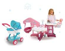 Domčeky pre bábiky sety - Set opatrovateľské centrum pre bábiku Baby Nurse Smoby a hlboký kočík Frozen (58 cm rúčka) od 3 rokov_14