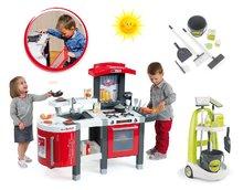 Kuchynky pre deti sety - Set kuchynka Tefal SuperChef Smoby s grilom a kávovarom a upratovací vozík Clean_28