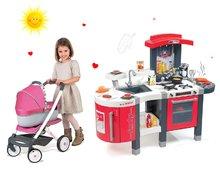 Kuchynky pre deti sety - Set kuchynka Tefal SuperChef Smoby s grilom a kávovarom a kočík pre bábiku retro Maxi Cosi & Quinny 3v1 (rúčka 65,5 cm)_35