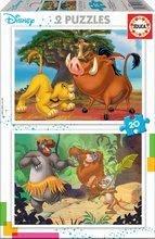 Puzzle Lví král Disney Educa 2 x 20 dílů od 4 let