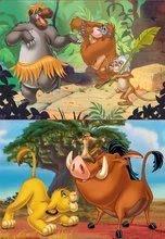 Dječje puzzle do 100 dijelova - Puzzle Kralj lavova Disney Educa 2x20 dijelova od 4 godine_0