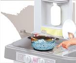 Kuchynky pre deti sety - Set kuchynka Tefal French Touch Bublinky Smoby s magickým bublaním a obedový set so sviečkami_16