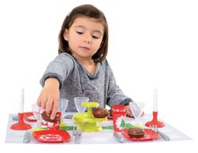 Kuchynky pre deti sety - Set kuchynka Tefal French Touch Bublinky Smoby s magickým bublaním a obedový set so sviečkami_11