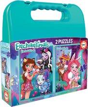 Puzzle v kufříku Enchantimals Educa Case 2 x 48 dílů od 5 let