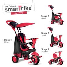 smarTrike 6751500 červeno-čierna trojkolka Spark Touch Steering 4v1 Black&Red od 10 mesiacov