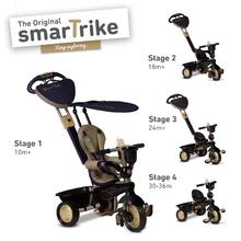 smarTrike 1599900 zlato-čierna trojkolka Dream Team Gold Touch Steering 4v1 od 10 mesiacov