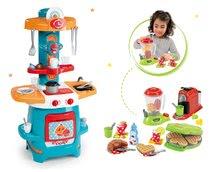 Set dětská kuchyňka Cooky Smoby s křidélky a vaflovač s mixérem a kávovarem od 18 měsíců
