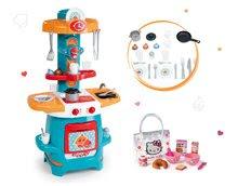 Set kuchyňka pro děti Cooky Smoby s křidélky a snídaňová sada Hello Kitty od 18 měsíců