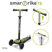 Koloběžka pro děti T5 smarTrike s T-lock systémem a nastavitelnou rukojetí černo-zelená