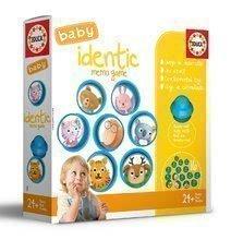 Memóriajáték Baby Identic Memo Game Educa Pexeso állatkák gombában 24 hótól EDU18124