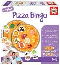 Spoločenská hra Pizza Bingo Educa v angličtine od 4 rokov