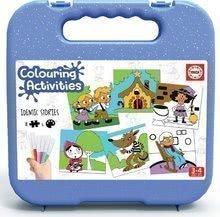 Pexeso kifestők Mesék Colouring Activities Educa kofferben 18 darabos-festés filctollakkal 25*25 cm 3 évtől EDU18211