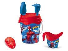 Fúriky do piesku - Fúrik s vedro setom Spiderman Mondo 5 dielov modro-červený od 18 mes_0