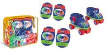 Patine cu rotile cu echipament de protecţie PJ Mask Mondo cu patru roţi albastru mărime 22-29
