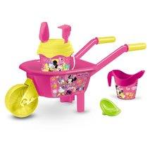 Roabă cu set de găleată Minnie Mouse Mondo 6 piese roz-verde de la 18 luni