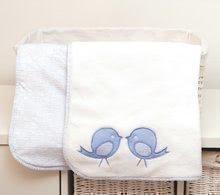 Oboustranná deka pro nejmenší Classic toTs-smarTrike ptáčky 100% jersey bavlna modrá