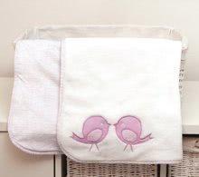 Oboustranná deka pro nejmenší Classic toTs-smarTrike ptáčky 100% jersey bavlna růžová