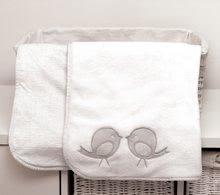 Oboustranná deka pro nejmenší Classic toTs-smarTrike ptáčky 100% jersey bavlna šedá