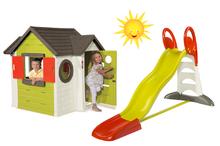 Domčeky so šmykľavkou - Set domček My Neo House DeLuxe Smoby so zvončekom a zadným vchodom a šmykľavka XL Toboggan s dĺžkou 2,3 m od 24 mes_36