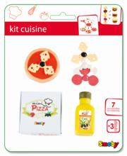 Riadíky a doplnky kuchynky - Mini pizza/mini hamburger Smoby so 7 doplnkami_4