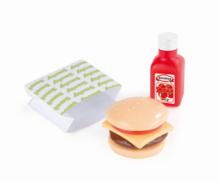 Riadíky a doplnky kuchynky - Mini pizza/mini hamburger Smoby so 7 doplnkami_1