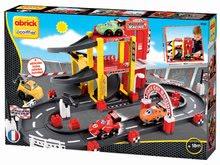 Detská stavebnica Garáž F1 Abrick Écoiffier s pretekárskou dráhou a 4 autíčkami od 18 mesiacov