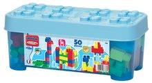 Stavebnica v dóze Maxi Abrick Écoiffier modrá s 50 veľkými kockami od 12 mesiacov 7786