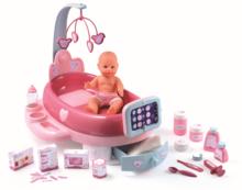 Opatrovateľské centrum pre bábiku Baby Nurse Smoby elektronické s tabletom, 32 cm bábikou a 22 doplnkami