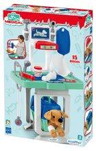 Lékařské vozíky pro děti - Zvěrolékařský vozík s pejskem Medical Écoiffier s infuzí a 15 doplňky od 18 měsíců_1