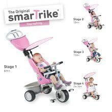 Tricicletă Recliner 4in1 smarTrike cu spătar reglabil ciclam-gri de la 6 luni