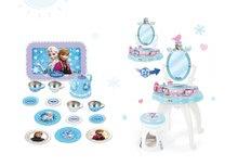 SMOBY 24996-4 pipere asztal székkel 2in1 Frozen és Frozen pléh teáskészlet