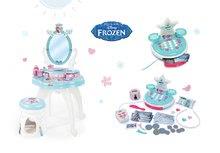 Kozmetické stolíky sety - Set kozmetický stolík so stoličkou 2v1 Frozen a kuchynka rastúca Tefal Evolutive s tečúcou vodou a magickým bublaním_57