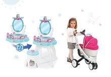 Kozmetické stolíky sety - Set kozmetický stolík Frozen Smoby so stoličkou a kočík pre bábiku retro Maxi Cosi & Quinny 3v1 (65,5 cm rúčka)_19