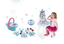 Set kozmetický stolík Frozen Smoby so stoličkou a piknikový košík Frozen