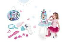 Set kozmetický stolík pre deti Frozen Smoby so stoličkou a kadernícky set so sušičom na vlasy Frozen