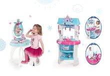 Kozmetické stolíky sety - Set kozmetický stolík Frozen Smoby so stoličkou a kuchynka Frozen s trblietkami_14