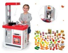 Set dětská kuchyňka Bon Appétit Smoby se zvuky a sada potravin do kuchyňky Écoiffier