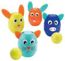 Kolky pre deti zvieratká Écoiffier 2v1 s pohyblivými ušami 4 kusy od 18 mesiacov