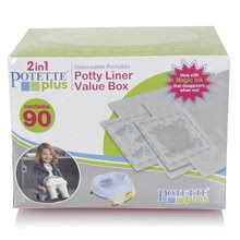 Dodatno polnilo za potovalno kahlico/otroškega nastavka Potette Plus 90 kosov