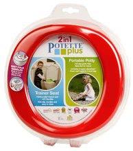 Potovalna kahlica/nastavek za WC Potette Plus rdeče-modra