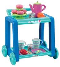 Servírovací vozík pro děti French Cuisine Écoiffier se snídaní od 18 měsíců s 20 doplňky modro-tyrkysový