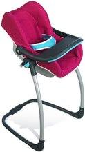 Kočíky od 18 mesiacov - Sada stolička, autosedačka a hojdačka pre bábiku Maxi Cosi & Quinny 3v1 Smoby ružovo-modrá_7