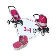 Kočíky pre bábiky sety - Set kočík pre bábiku Maxi Cosi & Quinny 3v1 Smoby (65,5 cm rúčka) a podložka na prebaľovanie_0