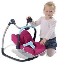 Kočíky od 18 mesiacov - Sada stolička, autosedačka a hojdačka pre bábiku Maxi Cosi & Quinny 3v1 Smoby ružovo-modrá_4