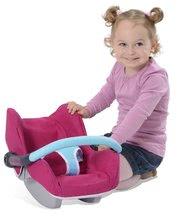 Kočíky od 18 mesiacov - Sada stolička, autosedačka a hojdačka pre bábiku Maxi Cosi & Quinny 3v1 Smoby ružovo-modrá_1