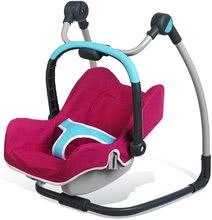 Kočíky od 18 mesiacov - Sada stolička, autosedačka a hojdačka pre bábiku Maxi Cosi & Quinny 3v1 Smoby ružovo-modrá_6